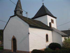 Kapelle Brecht - Sicht Hof Winter